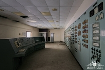 Control room in abandoned aircraft aerodynamics research facility in England wwwobsidianurbexphotographycom