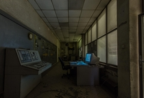 Control room of a cement plant which has been vacant for  years Germany