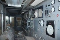 Control room of abandoned phosphate mine