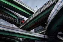 Converging Expressways in Osaka Japan
