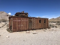 Converted railroad car in Rhyolite NV
