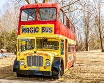 Cool Bus at an abandoned amusement park in a small town in Indiana I believe was called Storybook Gardens