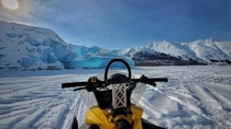 Cool shot from spring break this year Doesnt get much more wintry than having lunch on a glacier in Alaska