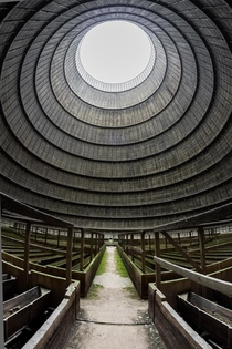 Cooling tower from an abandoned Belgian power plant - By David Baker