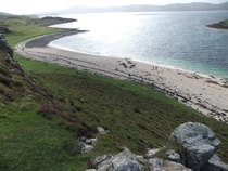 Coral sand beach Isle of Skye Scotland  x  OC