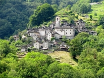 Corippo Village Verzasca valley Switzerland soon to become a scattered hotel