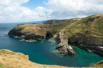 Cornwalls coast from Tintagel Castle
