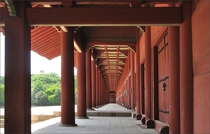 Corridor of the Jeongjeon the longest traditional building in Korea Jongmyo Shrine Seoul South Korea