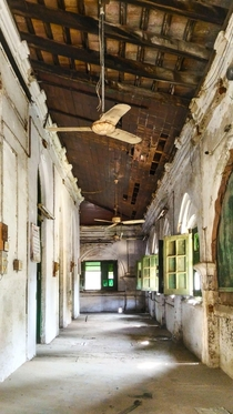 Corridors of the Old High Court Building Nagpur Maharashtra India