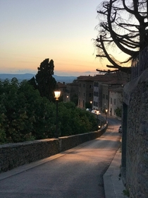 Cortona at Sunset Italy
