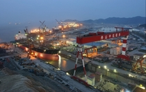 COSCO Shipyard in Zhejiang Sheng China