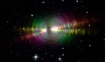 Cosmic lighthouse known as the Egg Nebula which lies around  light-years from Earth The image taken with the NASAESA Hubble Space Telescope has captured a brief but dramatic phase in the life of a Sun-like star