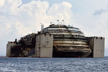 Costa Concordia - two years after being partially submerged  Album in comments