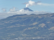 Cotopaxi volcano erupting yesterday x