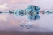 Cotton Candy Sunrise Jokulsarlon Iceland