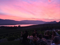 Cotton candy sunset in the Okanagan