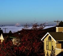 Couldnt see downtown Seattle through the fog but Mt Baker was out in all her glory this afternoon