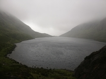 Coumshingaun Lake m elevation A harsh day in the Comeragh Mountains OC x
