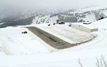 Courchevel Airport France - one of the very few airports that feature a sloped runway
