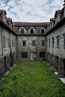 Courtyard of an abandoned monastery in Portugal