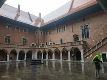Courtyard of the Jagiellonian University in Krakow Poland
