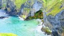 Cove next to Carrick-A-Rede Bridge in Northern Ireland