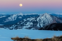 Covid Moon Rising Crested Butte Colorado