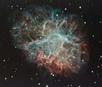 Crab Nebula M the superb supernova remnant in Taurus