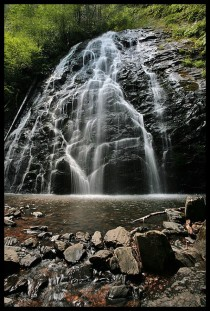 Crabtree Falls in North Carolina Mile Marker  of Blue Ridge Parkway