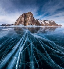 Cracked ice Lake Baikal Russia  photo by Daniel Korzhonov