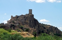 Craco Italy Abandoned in  because of recurring earthquakes