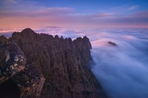 Cradle Mountain at dawn Tasmania by Aaron Jones