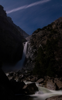 Crafted this nighttime photo of Yosemite Falls CA