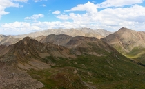 Craggy peaks and alpine tundra of the Colorado Rockies from the Continental Divide