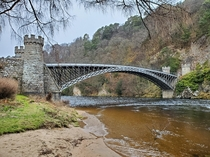 Craigellachie Bridge Moray Scotland Opened  it is the oldest cast iron bridge in Scotland and an ICE and ASCE international civil engineering landmark March
