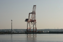 Crane at the port in Halifax