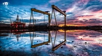 Cranes on the Harland amp Wolff Docks of Belfast  by Norman Quinn