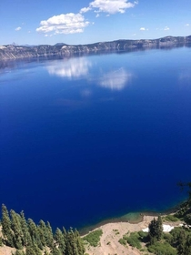 Crater Lake and its beautiful blue water Central OR