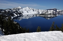 Crater Lake has so much snow itll be months before you can circumnavigate it without skis or snowshoes