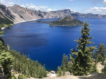 Crater Lake National Park in Oregon is the bluest blue Ive ever seen  x