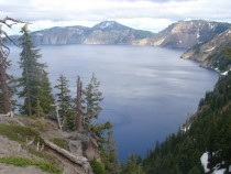 Crater Lake National Park Oregon in late June