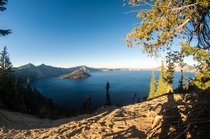 Crater Lake OR at Sundown