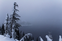 Crater Lake OR received a record amount of snow this year for December