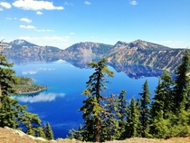 Crater Lake Oregon in June