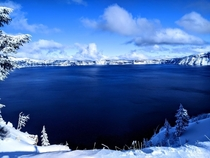 Crater Lake Oregon on Thanksgiving