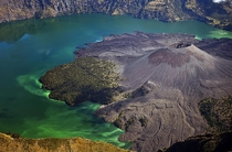 Crater lake Segara Anak located in Mount Rinjani Lombok Indonesia Dodi Sandradi