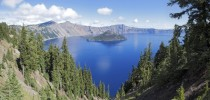 Crater Lake the deepest body of water in the United States Created in a collapsed volcano