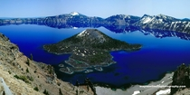 Crater Lake with Wizard Island in Oregon -
