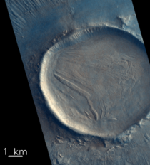 Crater pictured by the CaSSIS camera onboard the ESARoscosmos ExoMars Trace Gas Orbiter
