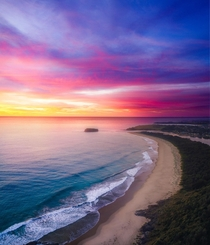 Craziest sunrise over the south coast of New South Wales